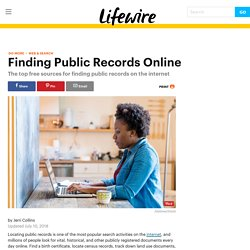 Public Records Online: 10 Free Sources