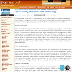 Tips For Finding Relief From Grass Pollen Allergy