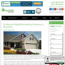 Finding the Right Remodeling Company in Maryland