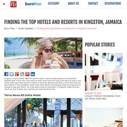 Finding the Top Hotels and Resorts In Kingston, Jamaica - Born Free - Fare Buzz Blog