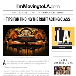 Tips for Finding the Right Acting Class