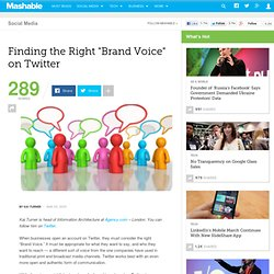 "Finding the Right ""Brand Voice"" on Twitter"