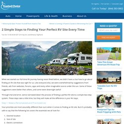 Finding an RV Site