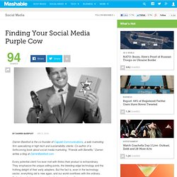 Finding Your Social Media Purple Cow