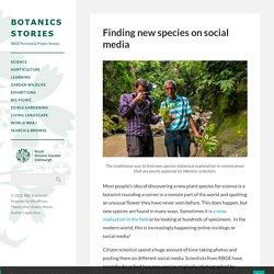 Finding new species on social media