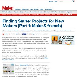 Finding Starter Projects for New Makers (Part 1: Make & friends)