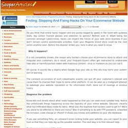 Finding, Stopping And Fixing Hacks On Your Ecommerce Website