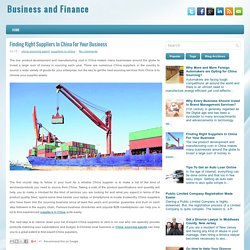 Finding Right Suppliers In China For Your Business