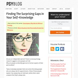Finding The Surprising Gaps in Your Self-Knowledge