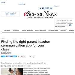 Finding the right parent-teacher communication app for your class