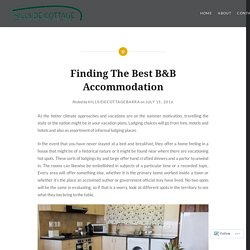 Finding The Best B&B Accommodation