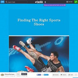 Finding The Right Sports Shoes