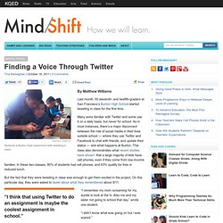 Finding a Voice Through Twitter