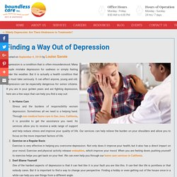 Finding a Way Out of Depression
