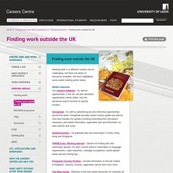 Finding work outside the UK