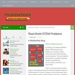 Finding Real-World Problems for STEM Lessons