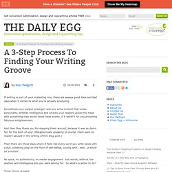 Finding Your Writing Groove