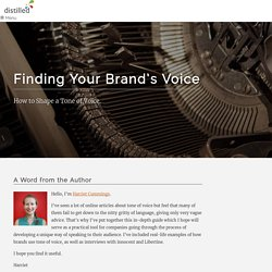 Finding Your Brand's Voice: How to Shape a Tone of Voice