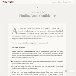Finding Your Confidence – Site Title