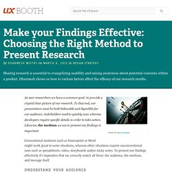 Make your Findings Effective: Choosing the Right Method to Present Research
