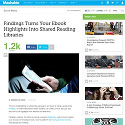 Findings Turns Your Ebook Highlights Into Shared Reading Libraries