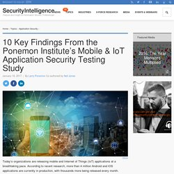 10 Key Findings From the Ponemon Institute's Mobile & IoT Application Security Testing Study