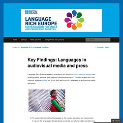 Key Findings: Languages in audiovisual media and press