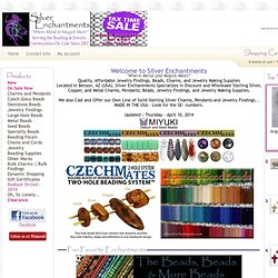 Beads, Jewelry Making Supplies and Charms | Silver Enchantments