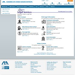 findlegalhelp.org - Consumers' Guide to Legal Help - ABA