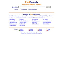 FindSounds - Search the Web for Sounds