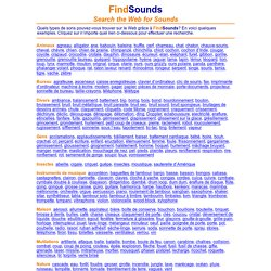 - Sound Types in French