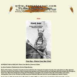 Fine Day Cree War Chief