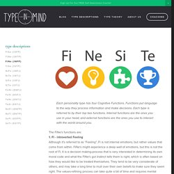 FiNe (INFP) — Type in Mind