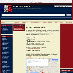 So Fine Jewels France