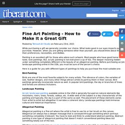 Fine Art Painting - How to Make It a Great Gift