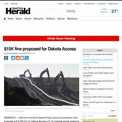 $15K fine proposed for Dakota Access