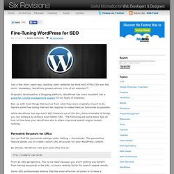 Fine-Tuning WordPress for SEO