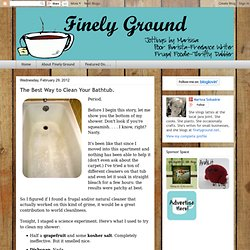 Finely Ground: The Best Way to Clean Your Bathtub.