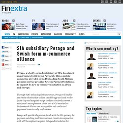 SIA subsidiary Perago and Swish form m-commerce alliance