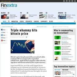 Triple whammy hits bitcoin price