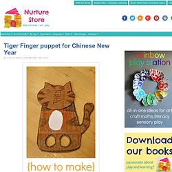 Tiger Finger puppet for Chinese New Year