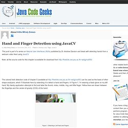 Hand and Finger Detection using JavaCV