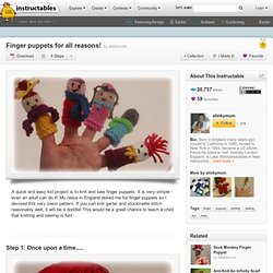Finger puppets for all reasons!