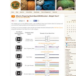 What Is Fingering/Sock/Sport/DK/Worsted…Weight Yarn?