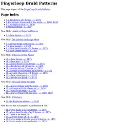 Braid Patterns