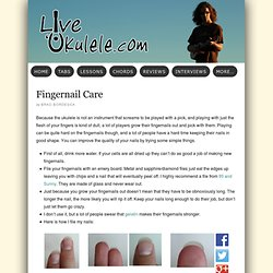 Fingernail Care