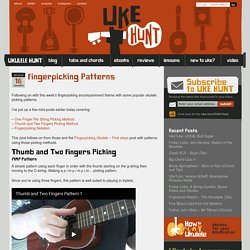 Fingerpicking Patterns