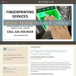 Is Fingerprint Based Background Check Complete?