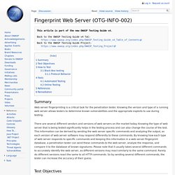 Fingerprint Web Server (OTG-INFO-002)