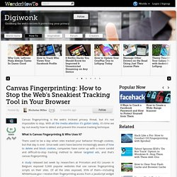 Canvas Fingerprinting: How to Stop the Web's Sneakiest Tracking Tool in Your Browser